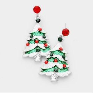 Christmas Trees Dangling Earrings